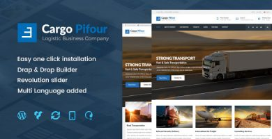 قالب Pifour - قالب وردپرس لجستیک و حمل و نقل