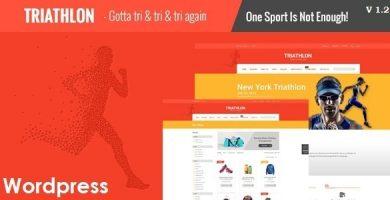 قالب Triathlon - قالب وردپرس ورزش و بدنسازی