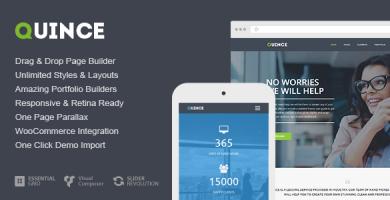 قالب Quince - قالب کسب و کار مدرن