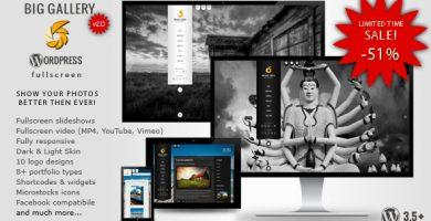 قالب BIG Gallery WP - قالب وردپرس عکاسی و نمونه کار