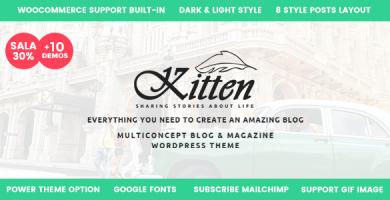 قالب Kitten - پوسته بلاگی وردپرس