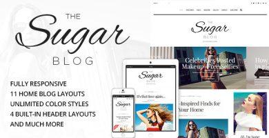 قالب SugarBlog - قالب وبلاگ شخصی و ساده وردپرس