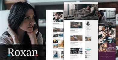 قالب Roxan - قالب وردپرس وبلاگ و مجله