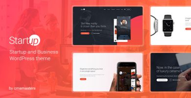 قالب Startup Company - قالب وردپرس برای کسب و کار و تکنولوژی