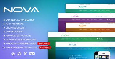قالب SNS Nova - قالب وردپرس فروشگاه دیجیتال