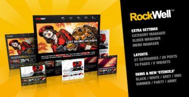 قالب RockWell - قالب وردپرس نمونه کار و وبلاگ