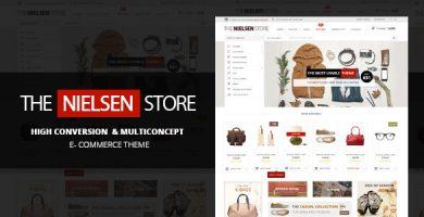 قالب نیلسن | Nielsen - قالب فروشگاهی ووکامرس