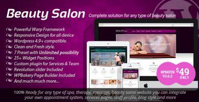 قالب Beauty Salon - قالب وردپرس