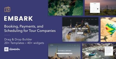 قالب Embark - قالب وردپرس گردشگری و رزرو تور