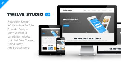 قالب Twelve Studio - قالب وردپرس ریسپانسیو