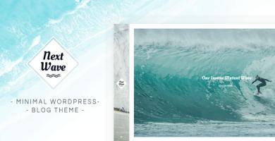 قالب NextWave - قالب وردپرس وبلاگی مینیمال