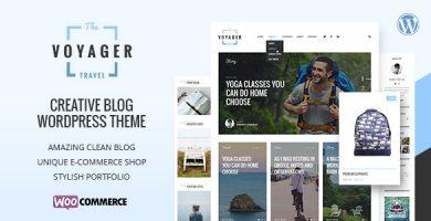 قالب Voyager - قالب وبلاگی خلاقانه وردپرس
