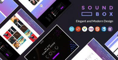 قالب SoundBox - قالب وردپرس فروش فایل