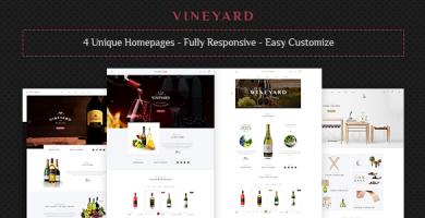 قالب Vineyard - قالب فروشگاهی فروشگاه نوشیدینی ها