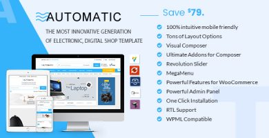 Automatic - پوسته ووکامرس الکترونیک، کامپیوتر و فروشگاه دیجیتال
