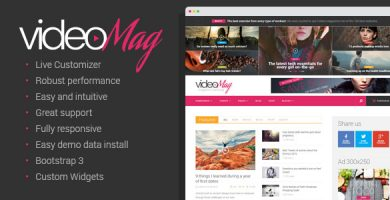 قالب VideoMag - قالب مجله ی وبلاگ ویدئو