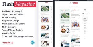 قالب FlashMagazine - قالب وبلاگ وردپرس ریسپانسیو