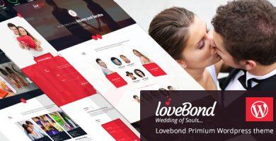 قالب LoveBond - قالب وردپرس عروسی و برنامه ریزی عروسی