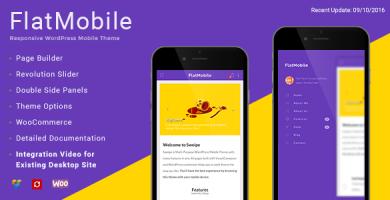 قالب FlatMobile - قالب موبایل وردپرس