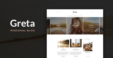 قالب Greta - قالب سایت شخصی وردپرس