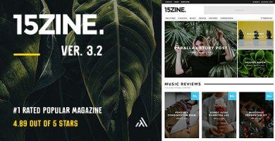 قالب ۱۵Zine - قالب وردپرس مجله و روزنامه