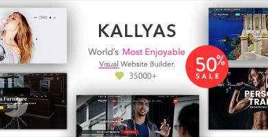 قالب KALLYAS - پوسته وردپرس فروشگاهی چند منظوره خلاقانه