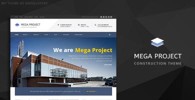 قالب Mega Project - قالب وردپرس شرکت ساختمانی