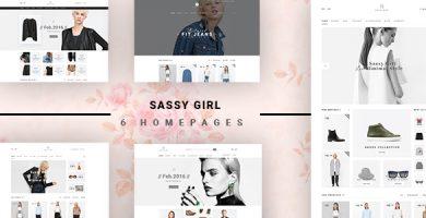 VG Sassy Girl - قالب وردپرس فروشگاهی