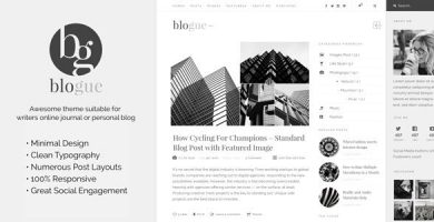 قالب Blogue - قالب وردپرس بلاگ شخصی