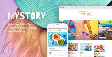 قالب MyStory - قالب وردپرس وبلاگ و مجله