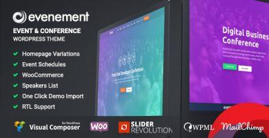 قالب Evenement - قالب وردپرس رویداد و کنفرانس