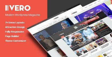 قالب Vero - قالب وردپرس وبلاگ و مجله