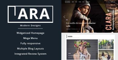 قالب Clara - قالب مجله و وبلاگ وردپرس
