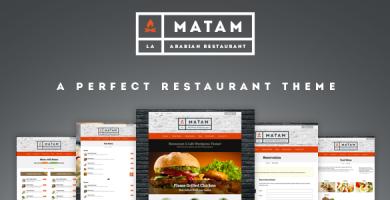قالب Mataam - قالب وردپرس رستوران