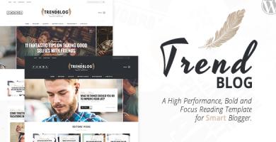 قالب TrendBlog - قالب وردپرس وبلاگ خلاقانه و زیبا