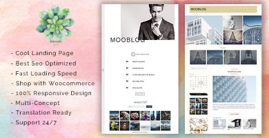 قالب MooBlog - قالب وردپرس بلاگی چند لایه
