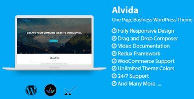 Alvida - قالب تک صفحه ای وردپرس کسب و کار