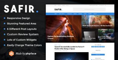 قالب Safir - قالب وردپرس وبلاگی