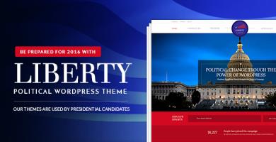قالب Liberty - قالب وردپرس سیاست