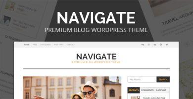 قالب Navigate - پوسته وردپرس بلاگ حرفه ای
