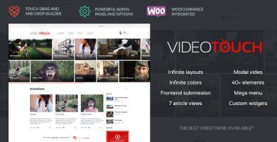 قالب VideoTouch - قالب ویدئو وردپرس