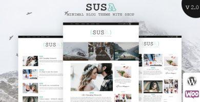 قالب Susa - قالب وبلاگ وردپرس ریسپانسیو