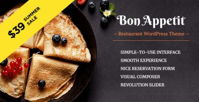 Bon Appetit - قالب وردپرس رستوران