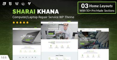 قالب Sharai Khana - قالب وردپرس مرکز تعیمر کامپیوتر