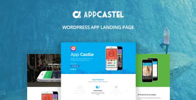 قالب AppCastle - صفحه ی فرود اپلیکیشن وردپرس