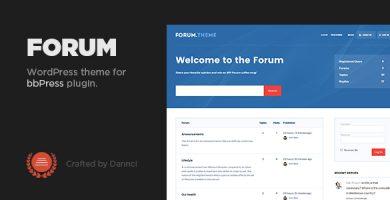 قالب Forum - قالب وردپرس برای بی بی پرس