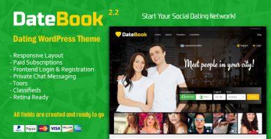 قالب DateBook - قالب وردپرس دوست یابی