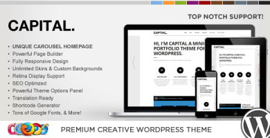 WP Capital - قالب وردپرس خلاقانه