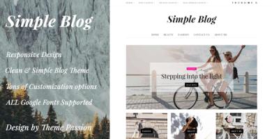 قالب Simple Blog - قالب وردپرس وبلاگی