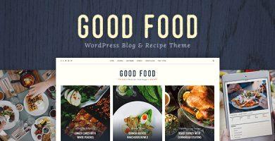 قالب Good Food - قالب وردپرس دستور العمل پخت غذا